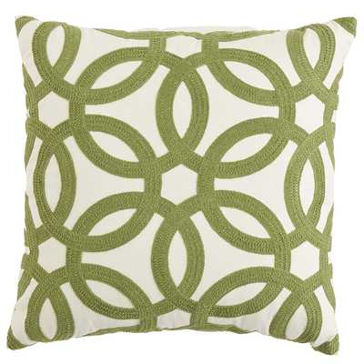 Embroidered Geometric Pillow - Pier 1