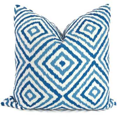 """Jonathan Adler Pillow - Blue and Turquoise  - 18""""x18"""" - Insert Sold Separately - Etsy"""