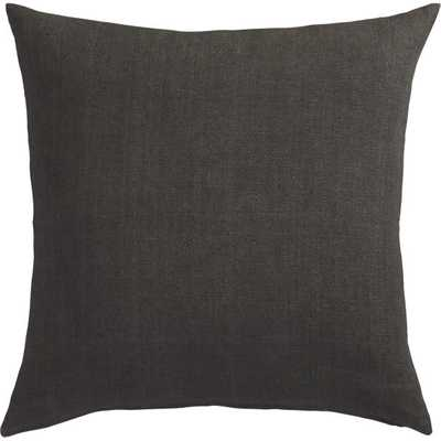 "Linon dark grey 20"" pillow with feather insert - CB2"