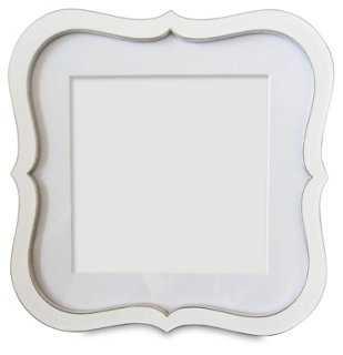 Enameled Quatrefoil Frame, 4x4, White - One Kings Lane