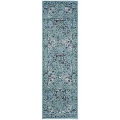 Safavieh Evoke Light Blue/ Light Blue Rug (2'2 x 7') - Overstock