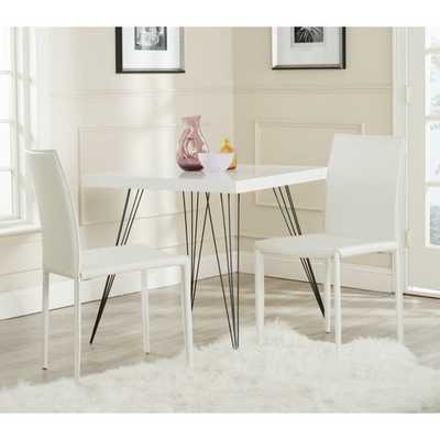 Safavieh Karna White Croc Bonded Leather Dining Chair (Set of 2) - Overstock
