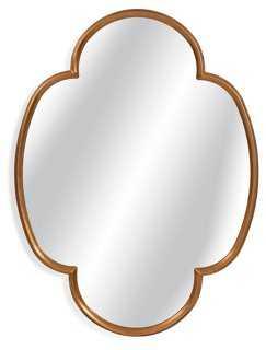 Saddle River Oversize Mirror, Gold Leaf - One Kings Lane
