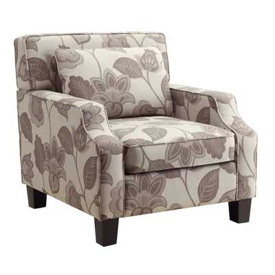 INSPIRE Q Broadway Grey Floral Sloped Track Arm Chair - Wayfair