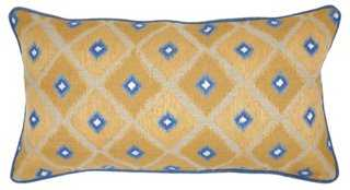 Ikat 14x26 Linen Pillow, Gold - One Kings Lane