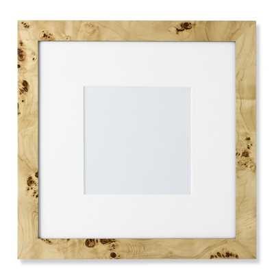 """Exotic Burl Wood Gallery Picture Frame- 8"""" X 8"""" - Williams Sonoma"""