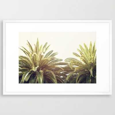"Sunlit Palms - 38"" X 26"" - Framed - Society6"