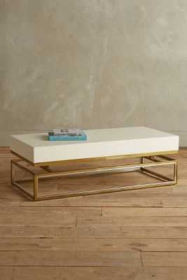 Lacquered Rectangular Coffee Table - Anthropologie