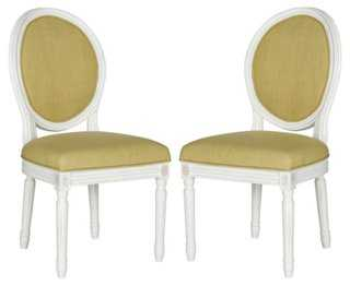 Chartreuse Hunter Side Chairs, Pair - One Kings Lane