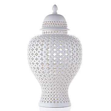 Ceramic Filigree Jar - Z Gallerie