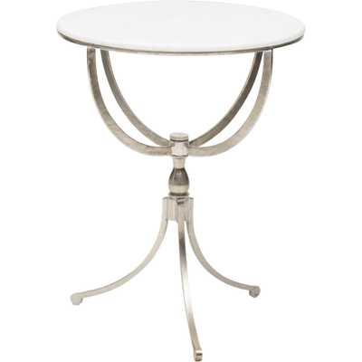 Art Deco Nickel Round Table - High Fashion Home