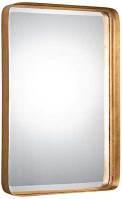 """Crofton Gold Leaf 20 1/4"""" x 30 1/4"""" Rectangle Wall Mirror - Lamps Plus"""