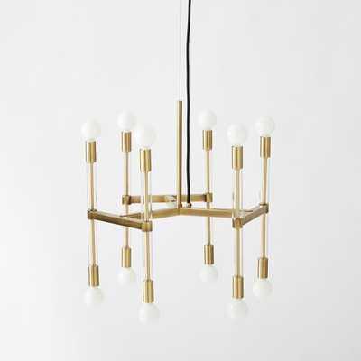 Acrylic Framework Chandelier – Round - Brass - West Elm