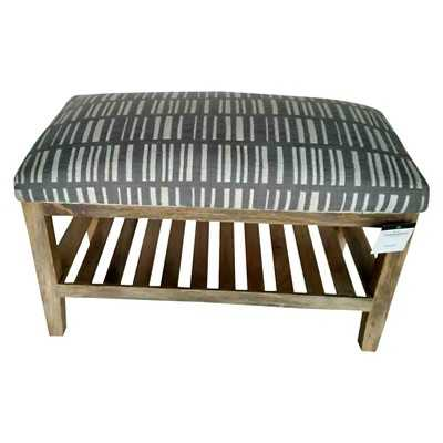 """Thresholdâ""""¢ Wooden Fabric Bench with Shelf - Target"""