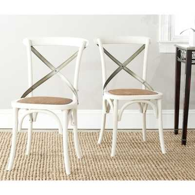 Eleanor Antique White X-Back Side Chair (Set of 2) - Overstock