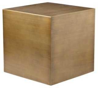 Spencer Large Side Table, Brushed Brass - One Kings Lane