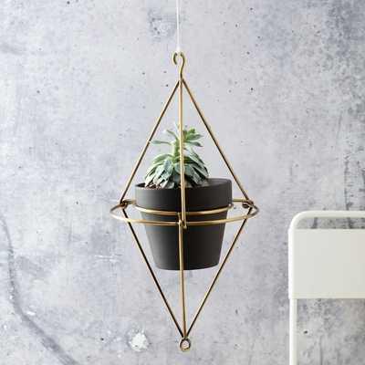 "Hanging Wire Pot Bracket + Black Chalkboard Pot 6"" - West Elm"