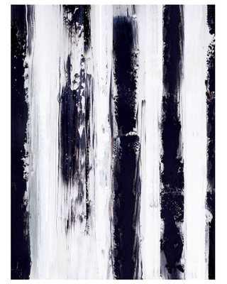 "Stripes-48""x70""-Unframed - Domino"