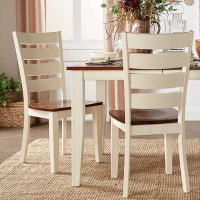TRIBECCA HOME Eli Rustic Two-tone Ladder Back Side Chairs ( Set of 2) - Overstock