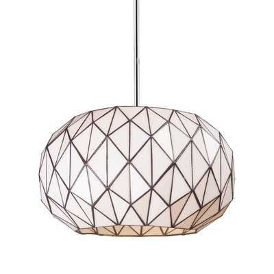 Elk Lighting Tetra 3-light Chrome and Geometric Glass Pendant - Overstock