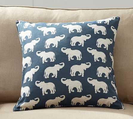 Elephant Print Pillow Cover - Pottery Barn