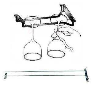 Under shelf Wine Glass hanging rack - Amazon
