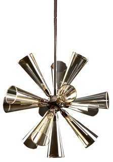 """20"""" Flute 9-Light Pendant, Champagne - One Kings Lane"""