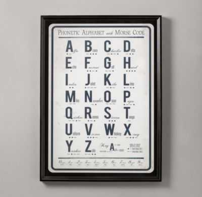 morse code alphabet art - RH Baby & Child