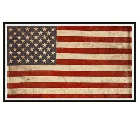 AMERICAN FLAG FRAMED PRINT - 44 X 27 - Pottery Barn