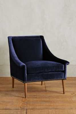 Slub Velvet Tillie Armchair - Anthropologie