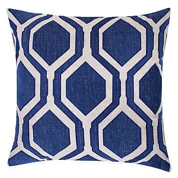 """Pandora Pillow 24"""" - Sapphire - With insert - Z Gallerie"""