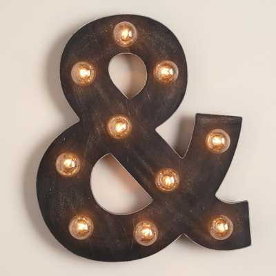 Ampersand Marquee Light - World Market/Cost Plus