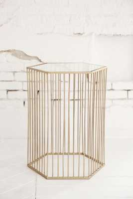 Harper Side Table - Gold - Urban Outfitters