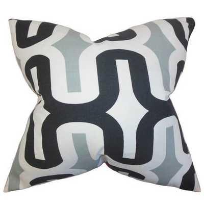 "Jaslene Cotton Throw Pillow - Gray - 18""x18"" - Insert Included - Wayfair"