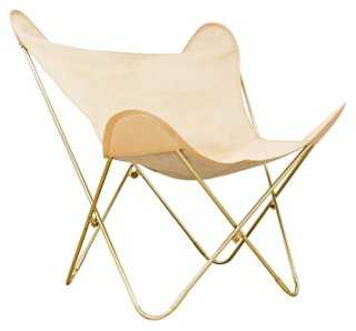 Palermo Leather Butterfly Chair - One Kings Lane