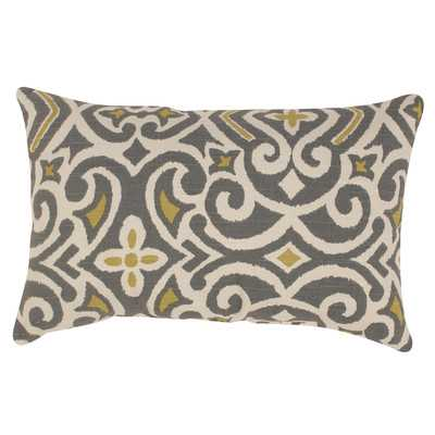 Charlton Home Lumbar Throw Pillow,  Gray / Greenish Yellow - Wayfair