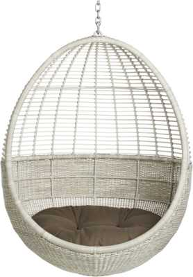 Pod hanging chair with cushion - CB2