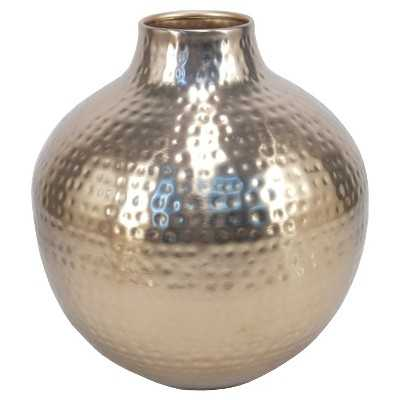 """9.5"""" Gold Metallic Vase - Target"""