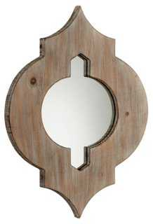 Ronnie Accent Mirror, Brown - One Kings Lane