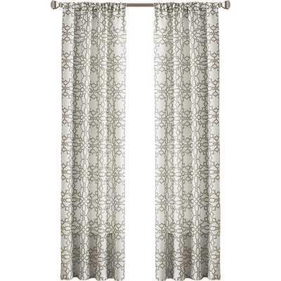 "Lotus Harmony Single Curtain Panel 63"" - AllModern"