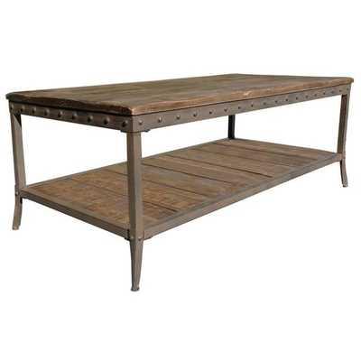 Trenton Distressed Pine Coffee Table - Overstock