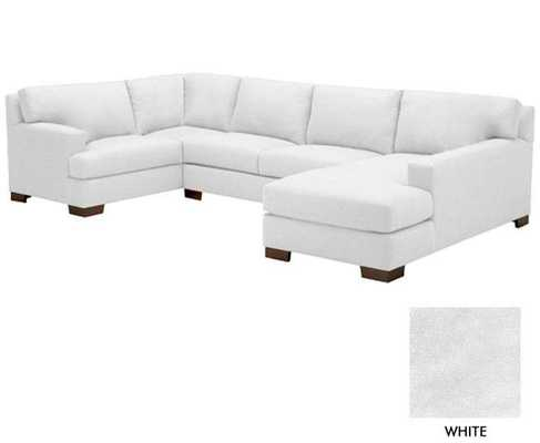 Bradbury 3pc Sectional Sofa-Stone - Domino