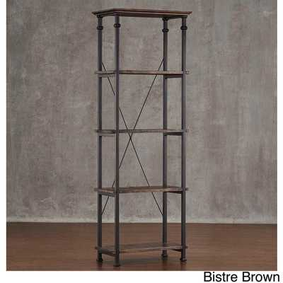 Myra Vintage Industrial Modern Rustic Bookcase - Overstock