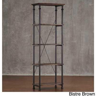 Myra Vintage Industrial Modern Rustic Bookcase - Overstock