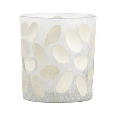 Minx Ovals Frosted Glass Votive Candle Holder - Crate and Barrel