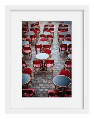 """Cafe in Paris 30"""" x 22"""" framed - Domino"""