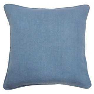 Ocean 22x22 Cotton Pillow, Blue - One Kings Lane