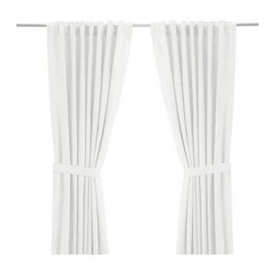 "RITVA Curtains with tie-backs, 1 pair, white - 118"" x 57"" - Ikea"