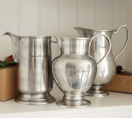 ANTIQUE SILVER SENTIMENT PITCHERS-DRINK - Pottery Barn