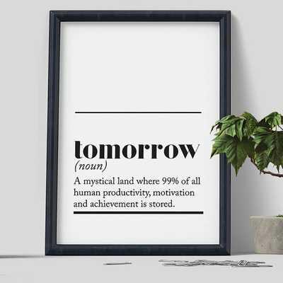 Tomorrow Print - unframed - Etsy